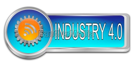 industry 40 button 3d