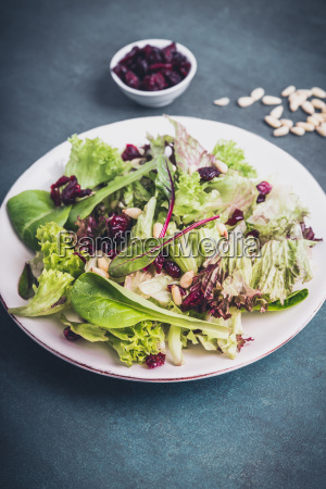mixed salad with cranberries