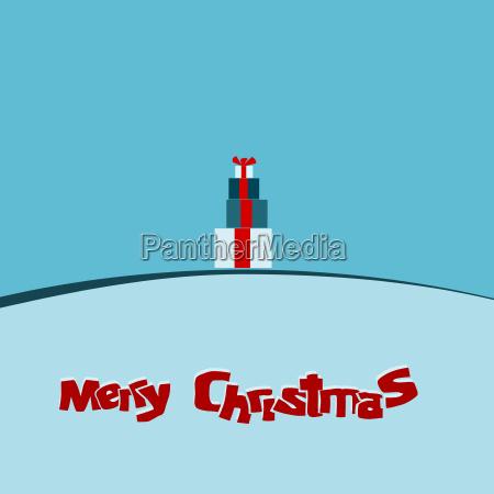 modern christmas card background