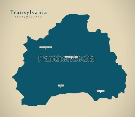 modern map transylvania romania ro