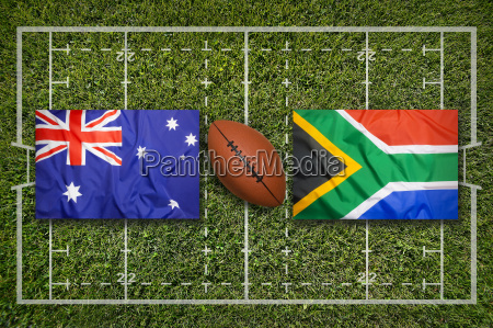 australia vs south africa flags on