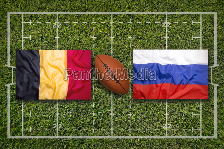 belgium vs russia flags on rugby
