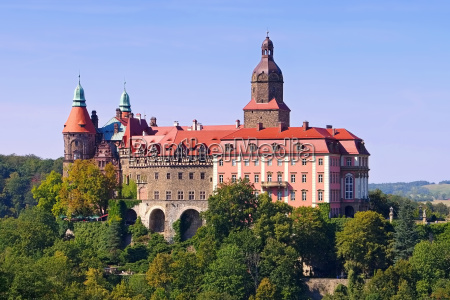 castle fuerstenstein in silesia castle