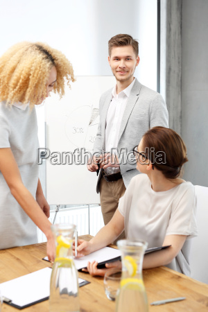 group of office workers at a