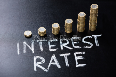interest rate concept on blackboard