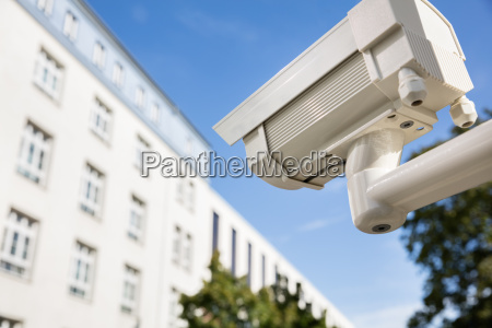security camera outside the building