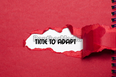 the word time to adapt appearing