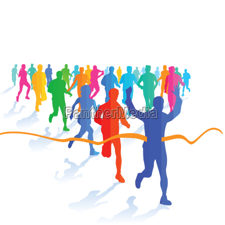 a group of runners at the