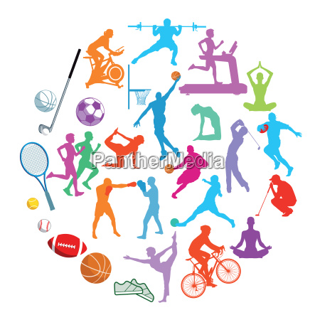 sports illustration collection isolated