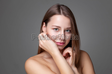 young natural woman with great skin
