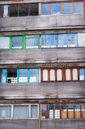 soviet architecture old building with different