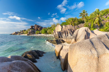 beautiful anse source dargent tropical beach