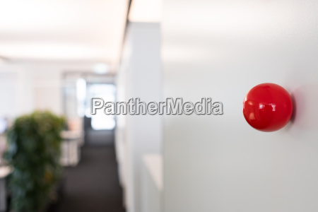 red sphere with magnet in a