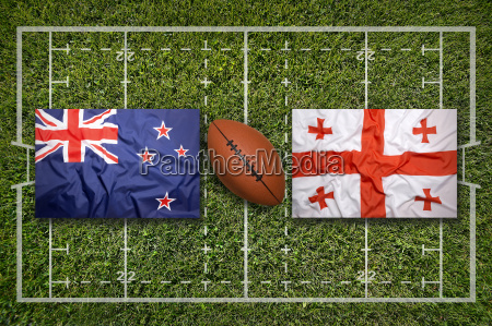 new zealand vs georgia flags on
