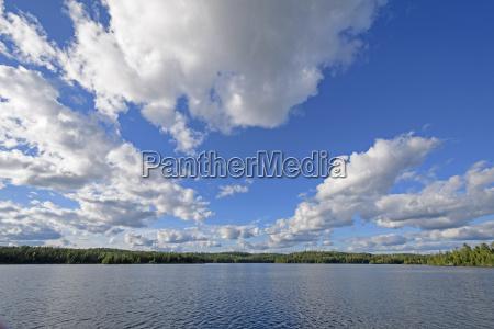 cloudscape above a waterscape