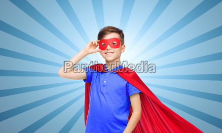 boy, in, red, super, hero, cape - 19891084