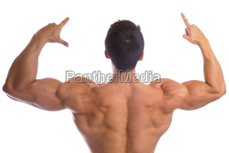 bodybuilder bodybuilding muscles back strongly muscular