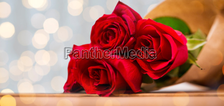 close up of red roses bunch