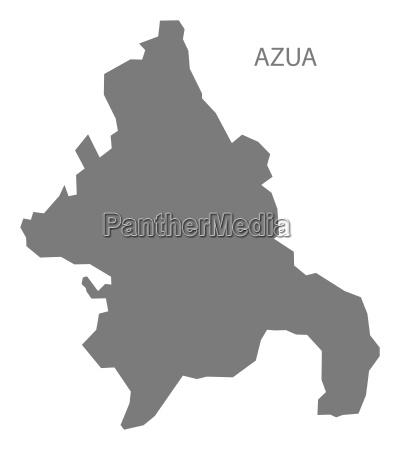 azua dominican republic map grey