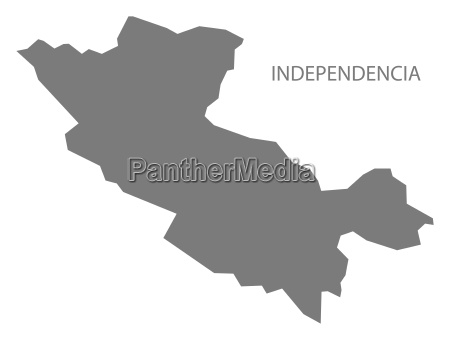 independencia dominican republic map grey