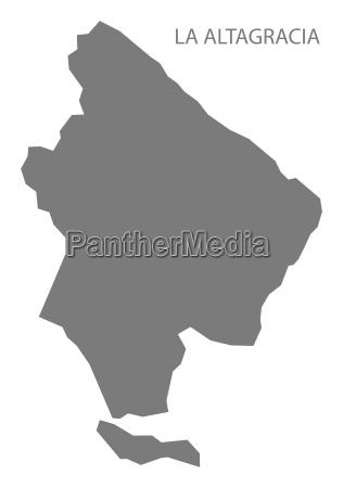 la altagracia dominican republic map grey