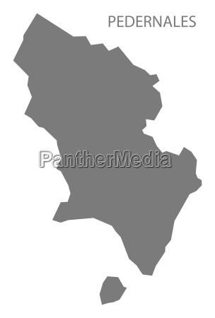 pedernales dominican republic map grey