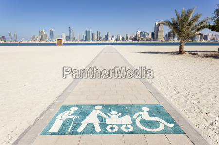 disabled walkway to the beach in