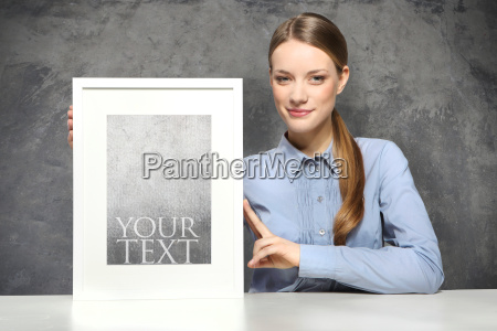 woman with picture