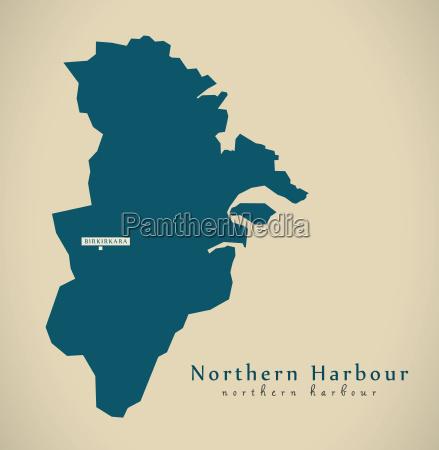 modern map northern harbour malta