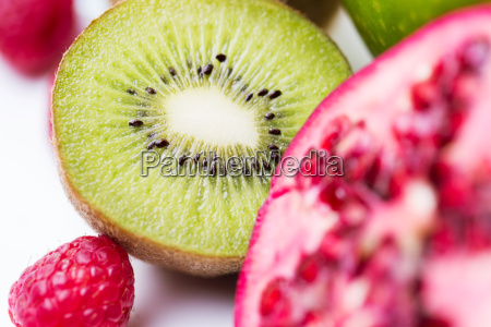 close up of ripe kiwi and