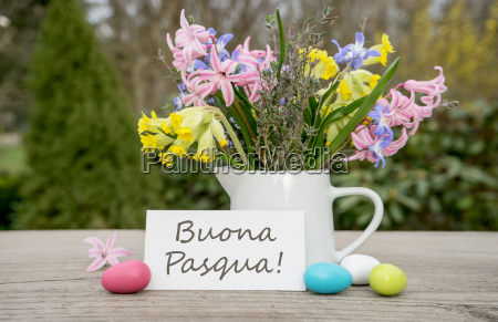 italian greeting card for the easter