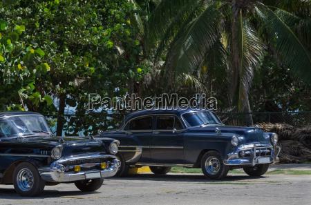 black american vintage car on the