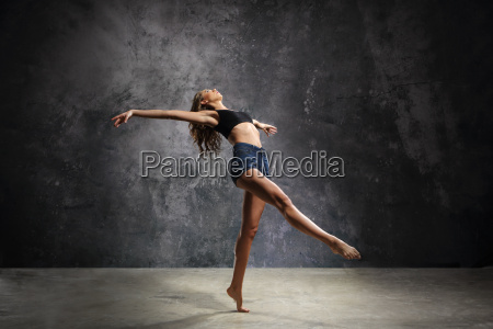 dancer in a pose of modern