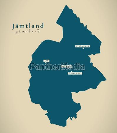 modern map jamtland sweden se