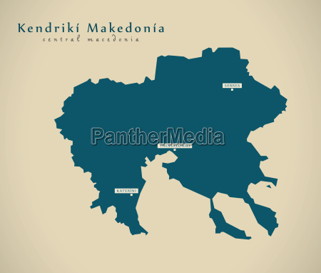 modern map kendriki makedonia greece