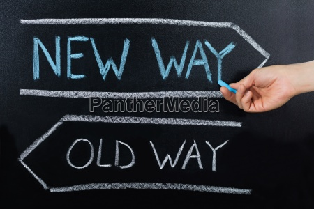 old way or new way concept