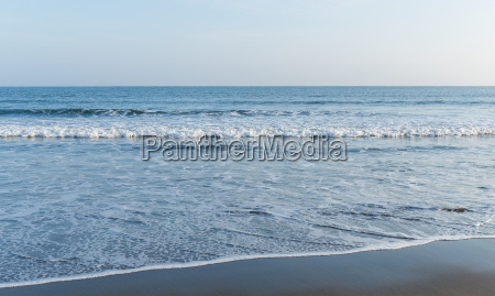 wave of sea with sand beach