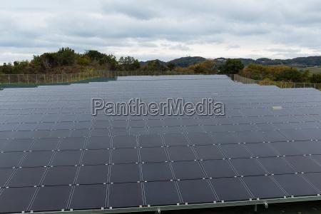 solar panel in a solar power