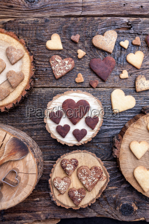 delicious heart shaped cookies baked with