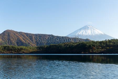 mount fuji and lake saiko