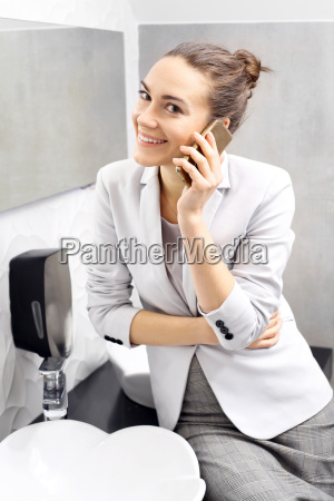 call business woman talking on the