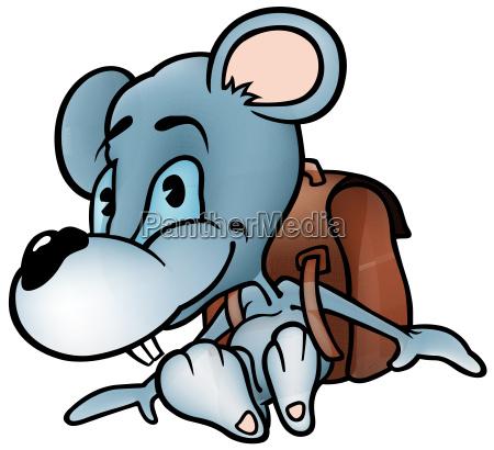 little mouse in school