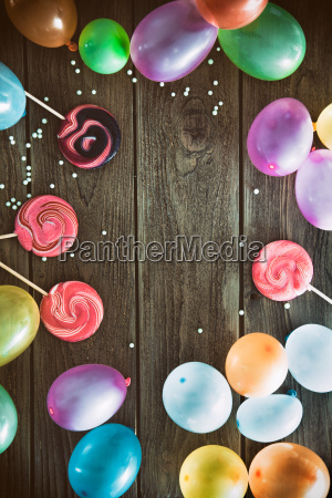birthday baloons and objects