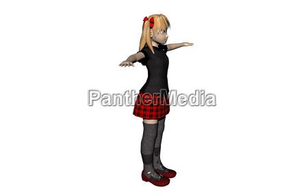 schoolgirl isolated