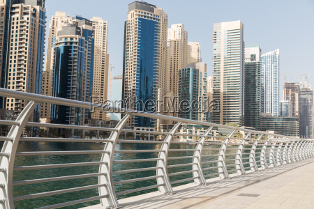 dubai city business district and seafront