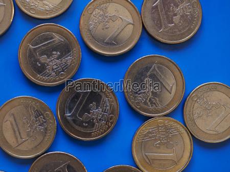 1 euro coins european union over