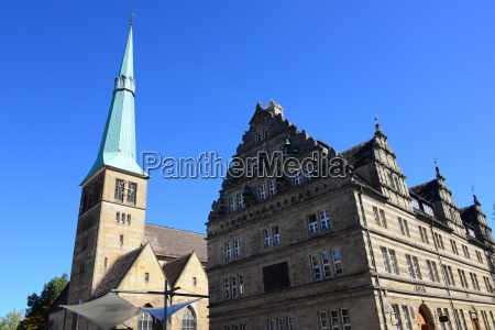 house facades in hameln lower saxony