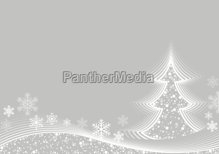 white abstract christmas greeting