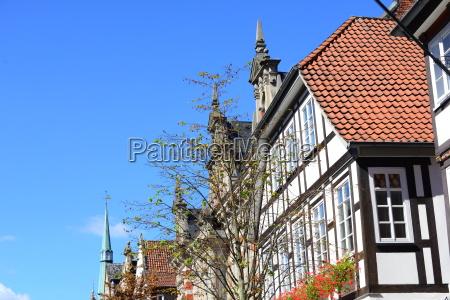 house facades in hameln niedersachsen