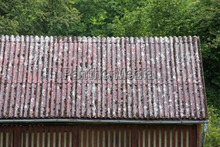 old terracotta roof tiles close up